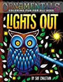 OrnaMENTALs Lights Out: 40 Lighthearted Designs to Color with Dramatic Black Backgrounds (Volume 6)