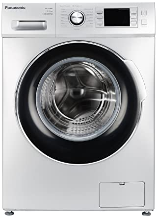 Panasonic 7 kg Fully-Automatic Front Loading Washing Machine (NA-127MB1L01, Silver)
