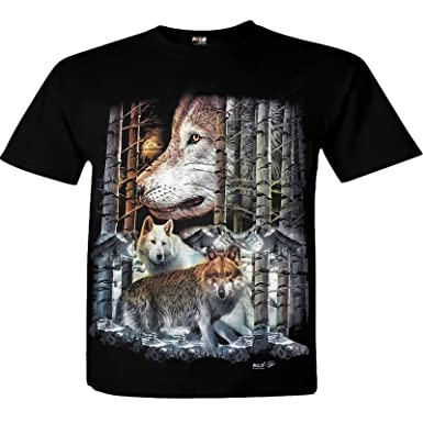725d2f7dd3f Forest Wolves Wolf Wild T-Shirt  Amazon.co.uk  Clothing
