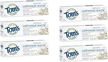 6-Pack Toms of Maine Luminous White Whitening Natural Toothpaste