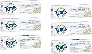 product image for Tom's of Maine Luminous White Whitening Natural Toothpaste, Clean Mint, 4.7 Ounce, ( Pack Of 6 )