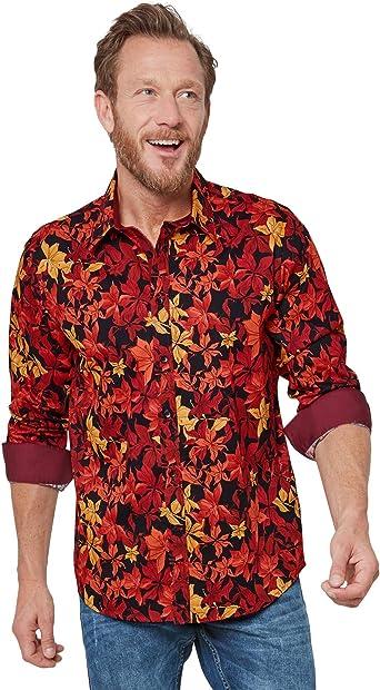 Joe Browns - Camisa para hombre, diseño de hojas de otoño ...