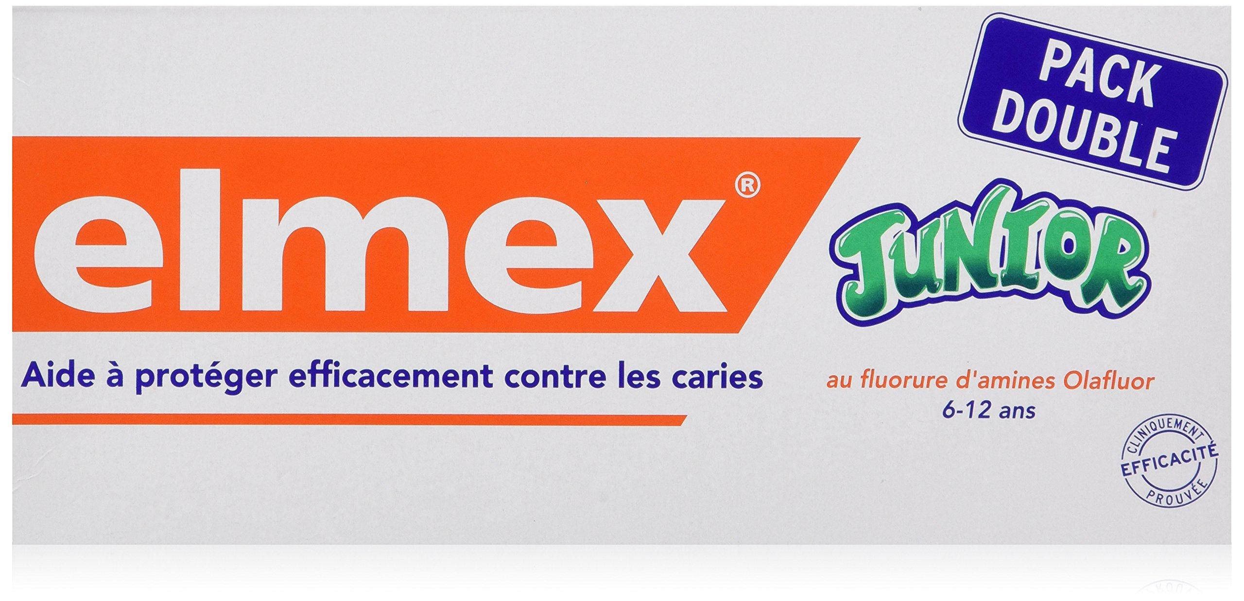 ELMEX Toothpaste Junior 6-12 Years Old 2x75ml, 2x2.5oz by Elmex