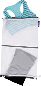 Woolite Sanitized Twin Compartment Wash Bag, White