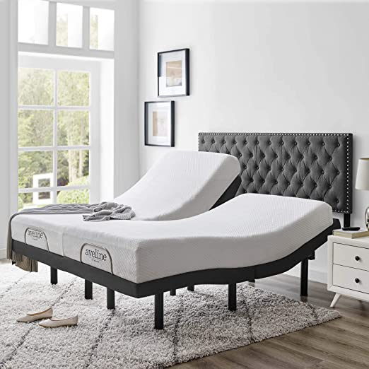 Amazon Com Modway Transform Split King Adjustable Bed Frame Base With Independently Operating Wireless Remote Kitchen Dining