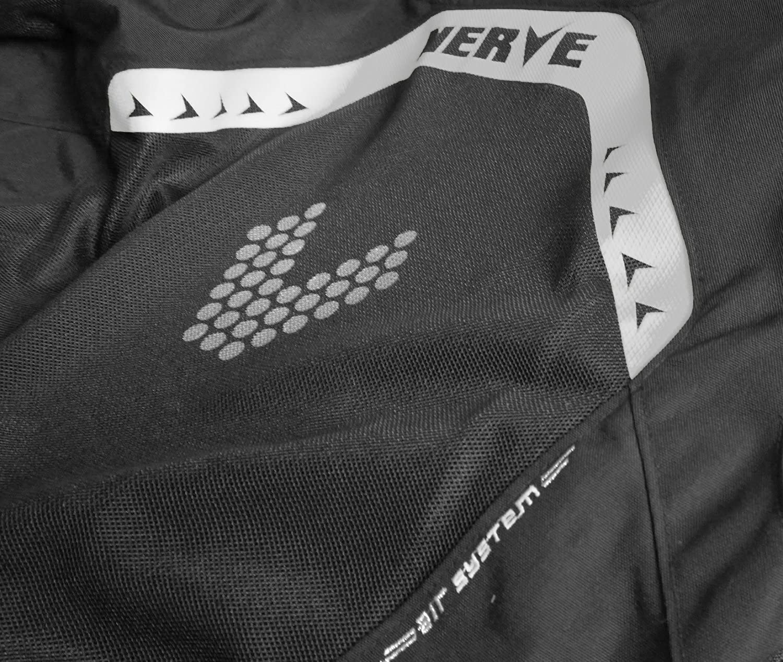 Negro//Naranja S Nerve Cool Slight Chaqueta Moto de Verano