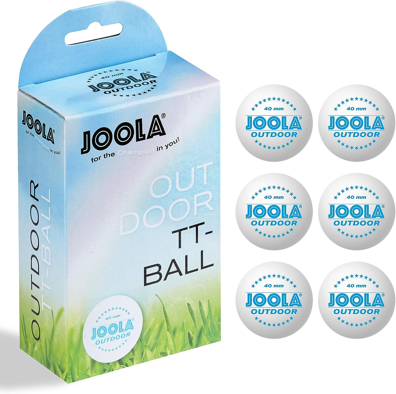 JOOLA Tischtennis-Bälle Rossi 3-Stern 40 weiss 6er Blister Tischtennisball TT