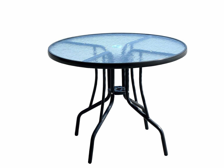 Minuto & Salomone - Mesa redonda de acero y metacrilato de 90 cm ...