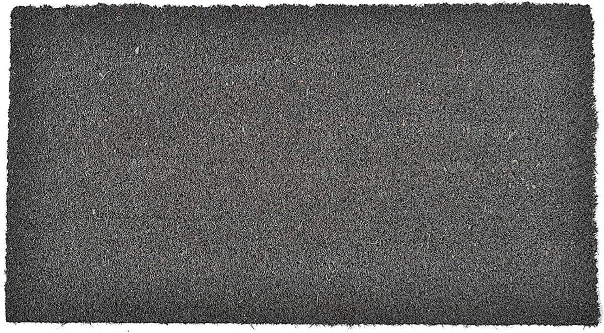 Evideco 1400693 Sheltered Mat Door Rug, 13 W X 24 L X 5 8 H, Grey