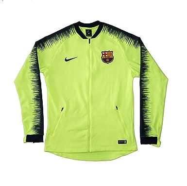 6005e5227 Men's Official 2018-2019 FC Barcelona Anthem Jacket 894361-705 Volt (Medium)