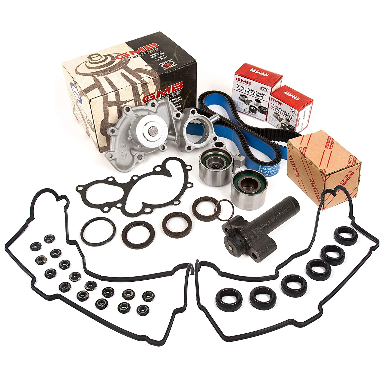 Evergreen TBK271HPHVC Race Series Timing Belt Kit GMB Water Pump Tensioner Valve Cover Gasket Fit Toyota 3.4 5VZFE