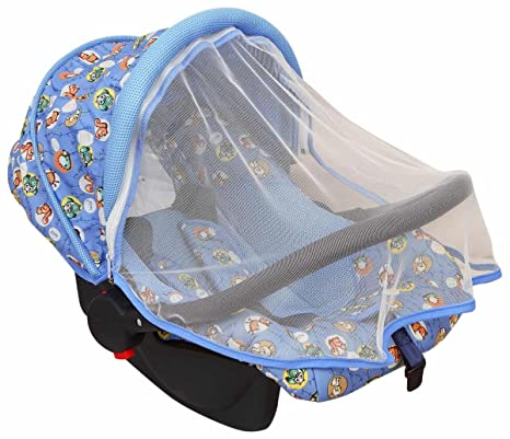 fb5bb0d5cd6d Buy Ollington Street Baby Car Seat   Carrier With Mosquito Net - Blue  Online at Low Prices in India - Amazon.in