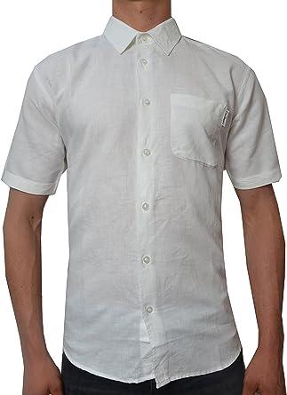 Pierre Cardin Hombre Camisa Blanca de Manga Corta (Large, White): Amazon.es: Ropa y accesorios