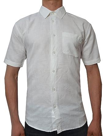 b2452b2ce0eb5 Pierre Cardin Hombre Camisa Blanca de Manga Corta  Amazon.es  Ropa y  accesorios