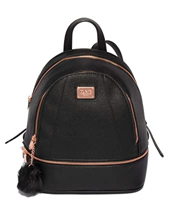 1bfd5f5dd2da Image Unavailable. Colette Hayman - Bridget Black Medium Rose Gold Hardware  Backpack