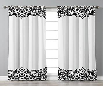 amazon com iprint stylish window curtains henna damask inspired rh amazon com