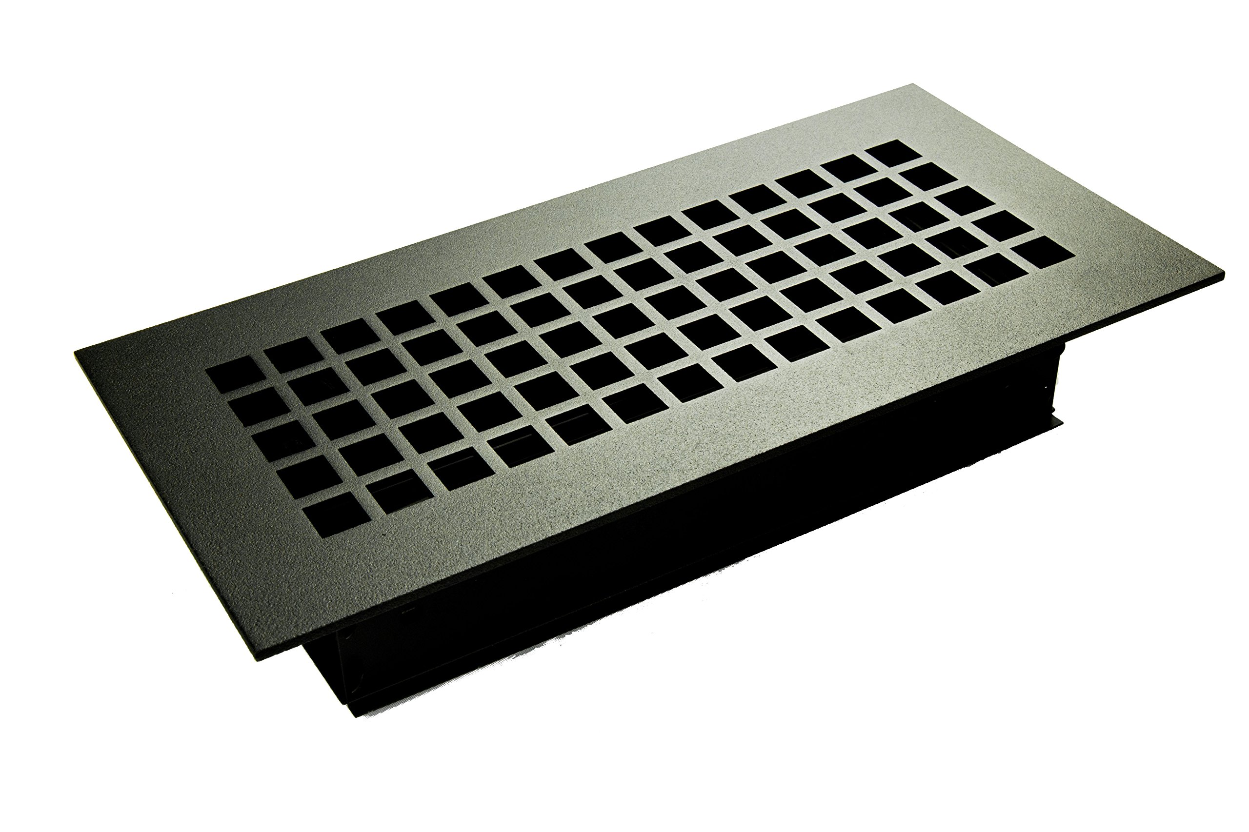 12 x 24 Oil Rubbed Steel Square Ceiling and Wall Air Returns and Grilles (14'' x 26'' Overall)
