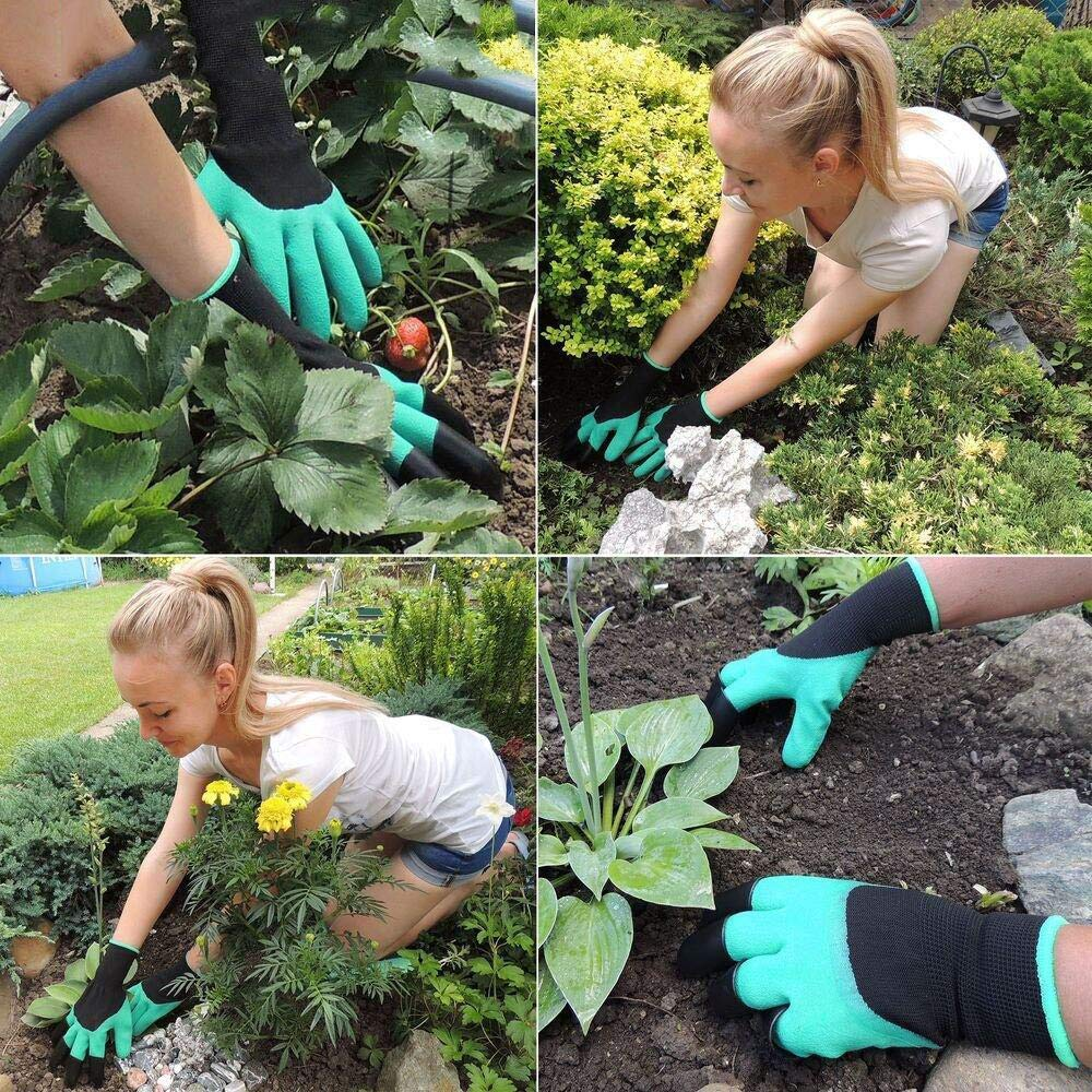 two-handed claws for piercing waterproof garden gloves Gardening Gloves with Claws 2 pairs garden gloves for easy digging and planting