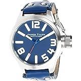 James Tyler Montres - JT702-2 - Montre Homme - Quartz Analogique - Bracelet Cuir Bleu