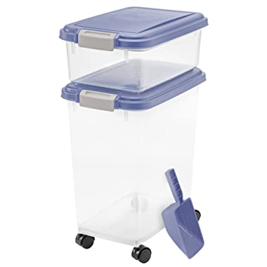 IRIS USA, Inc.... Iris Blue Indigo and Clear Airtight Three Piece Food Storage Combo