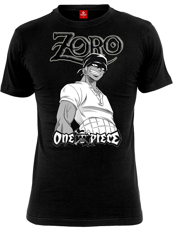 One Piece T-Shirt Roronoa Zoro Black - XL