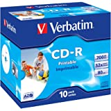 Verbatim 43325 AZO 52x Printable CD-R - Jewel Cased 10 Pack