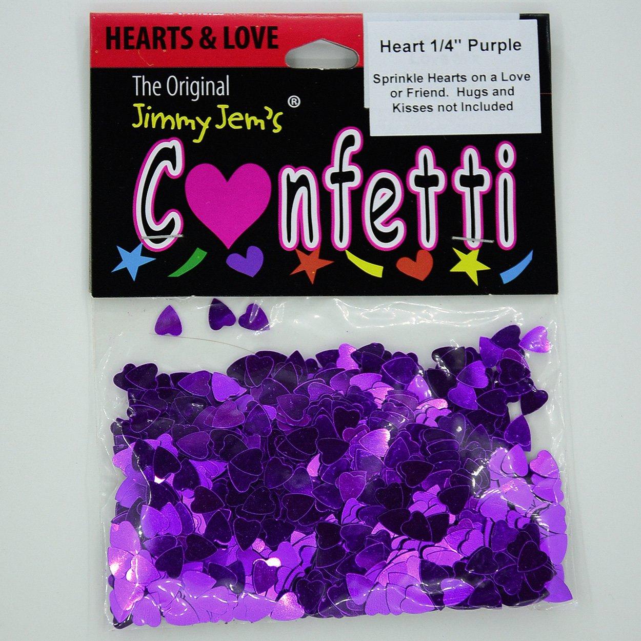2 Half Oz Bags 8587 1 oz Confetti Heart 1//4 Purple
