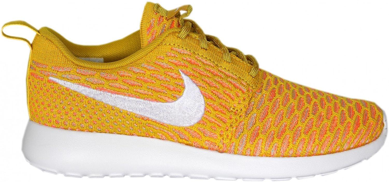 NIKE Womens Roshe One Flyknit Flyknit Colorblock Running Shoes B00WRZQ0NC 8.5 M US|Orange-white-honey