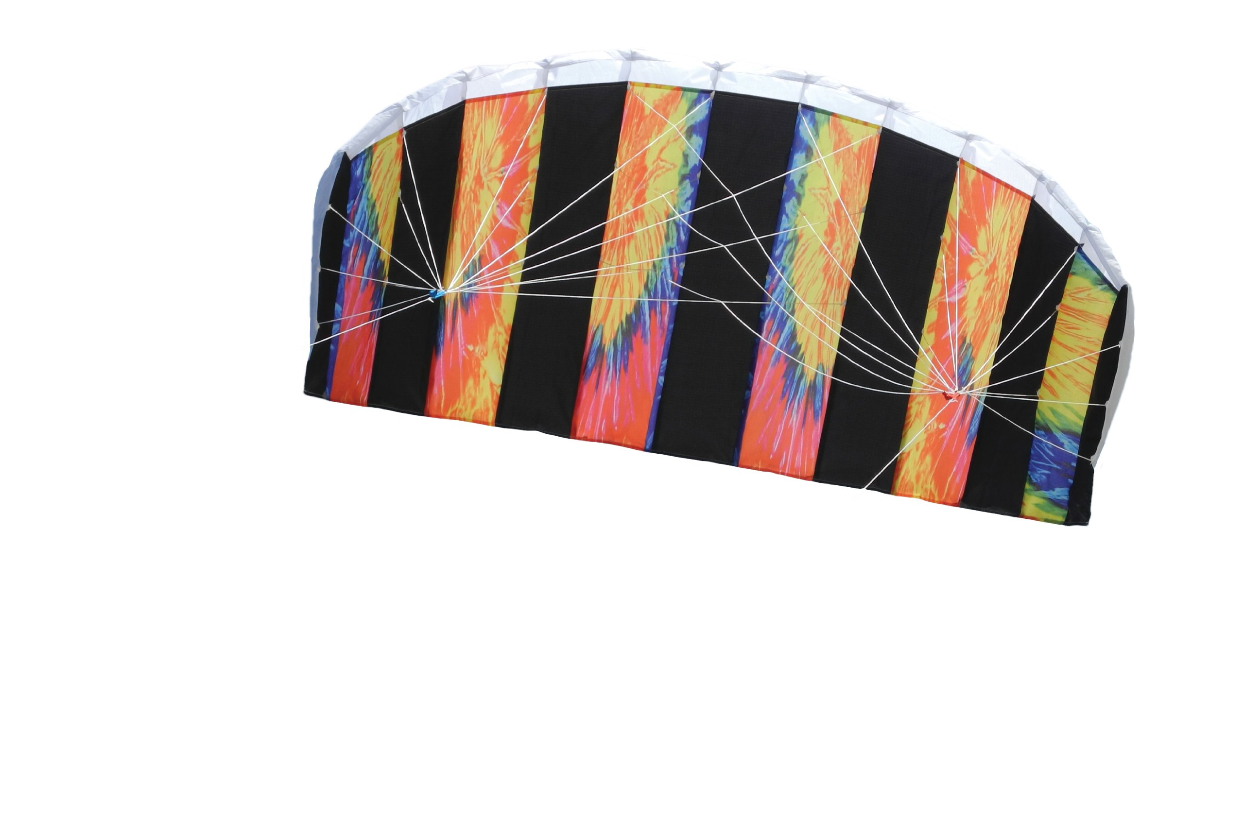 In the Breeze Tie Dye 62 Inch Sport Kite - Dual Line Stunt Parafoil - Includes Braided Kite Line and Bag - Easy to Fly by In the Breeze