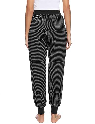 Aibrou Pantalon Chandal Mujer Largos Pantalones de Deporte Yoga ...
