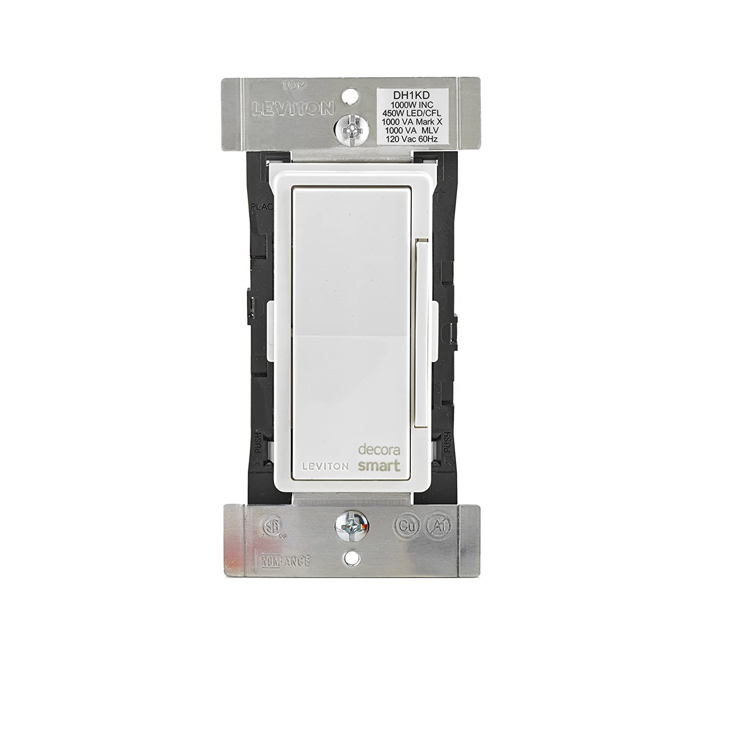 Leviton DH1KD-1BZ 1000W Decora Smart Dimmer, Works with Apple ...