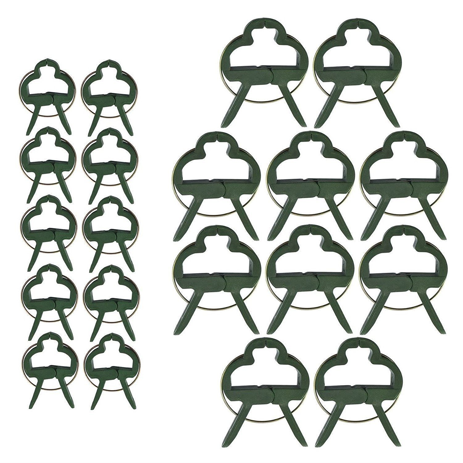 Vine Grow Upright LUTER 70pcs Plant Clips 2 Sizes Garden Clips Tomato Flower and Vine Support Clips for Supporting Stems Green