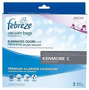 Kenmore C Febreze Vacuum Bags, 3 Pack, 21R51