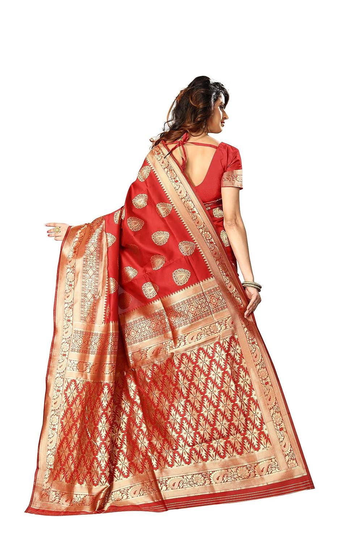 Womens Banarasi Silk Saree Indian Wedding Ethnic Sari /& Unstitch Blouse Piece PARI 21