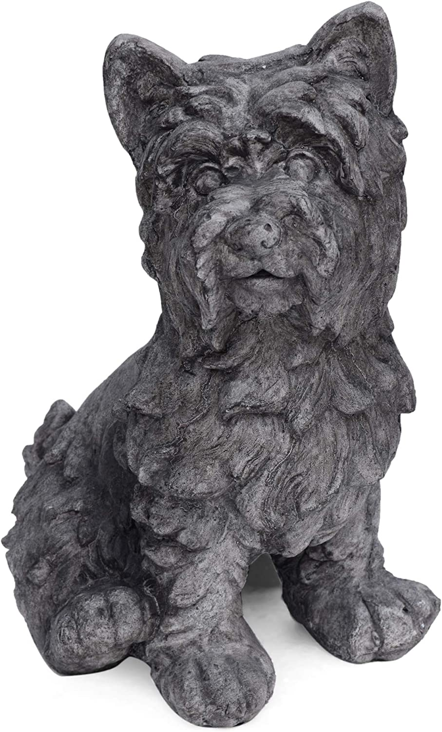 Christopher Knight Home 309255 Seth Outdoor Terrier Dog Garden Statue, Antique Gray Finish
