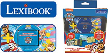 LEXIBOOK- Paw Patrol La Patrulla Canina Chase Compact Cyber Arcade Consola portátil, 150 Juegos, LCD, con Pilas, Rojo/Azul, Color (China) - Amazon.es