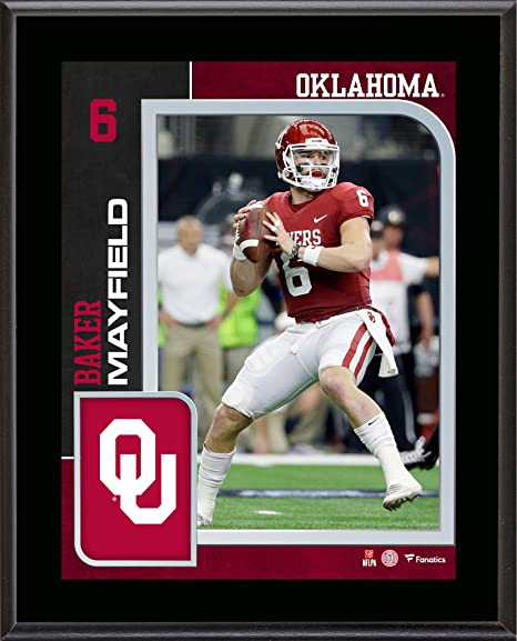 4aaf77f0a Baker Mayfield Oklahoma Sooners 10.5   x 13   Sublimated Player Plaque -  College