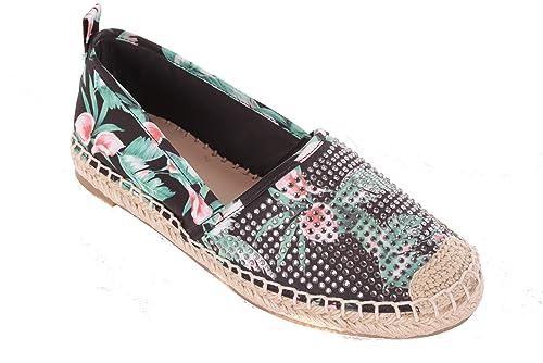 GUESS Zapatillas Para Mujer Espandrilles Zapatillas Negras: Amazon.es: Zapatos y complementos