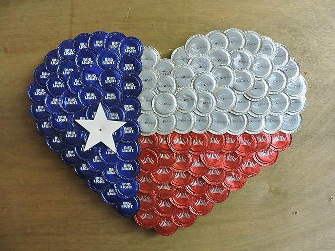 Amazon.com  Texas Flag Heart made with Bud 59dab0620