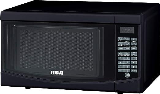 Amazon.com: RCA 0.7 cu. Microondas encimera en negro RMW733 ...