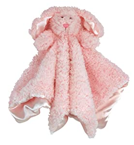 Stephan Baby Plush Cuddle Bud Security Blankie, Pink Bunnie