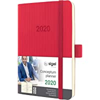 SIGEL C2035 Wochenkalender 2020, ca. A6, rot, Softcover Conceptum - weitere Modelle