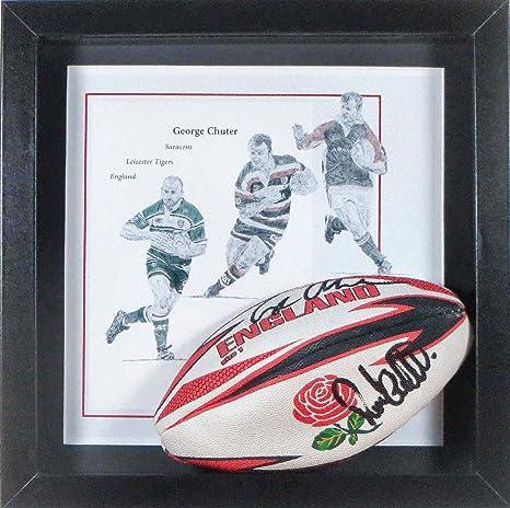 George Chuter firmado y enmarcado Mini balón de Rugby: Amazon.es ...