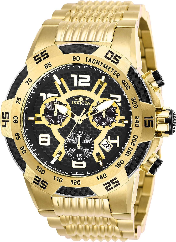 Invicta Men s Speedway Quartz Watch with Stainless Steel Strap, Gold, 30 Model 25286