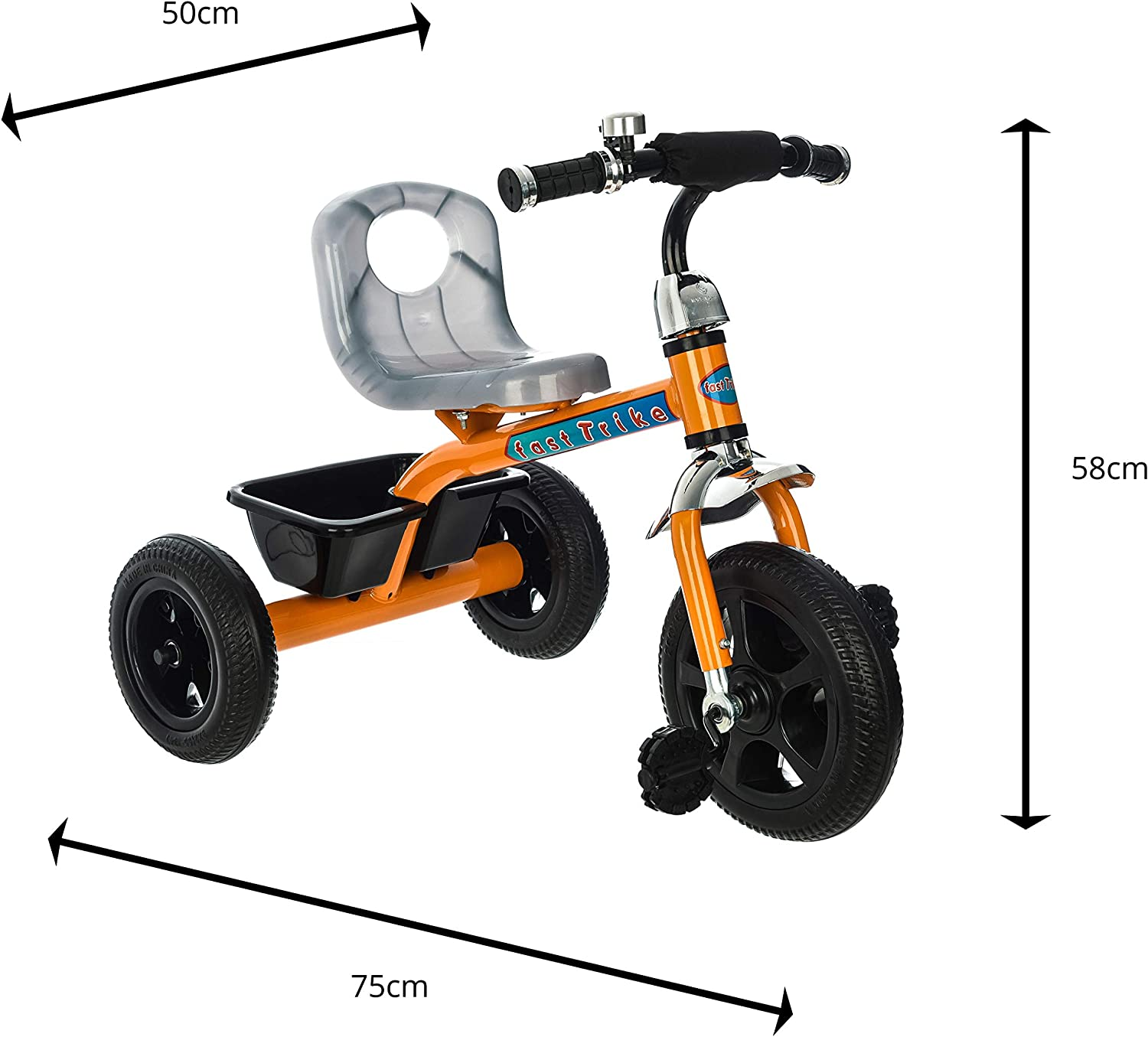 BW- 257 BLUE Costello /® NEW 3 WHEEL BABY BOY GIRL TRIKE TRICYCLE STROLLER BUGGY PUSH BIKE CHILDREN CHILD TODDLER 3-6 YEARS ✅ SELF ASSEMBLY IS REQUIRED ✅