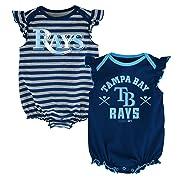 MLB Tampa Bay Rays Newborn Girls 2Pk Creeper-3/6 Months