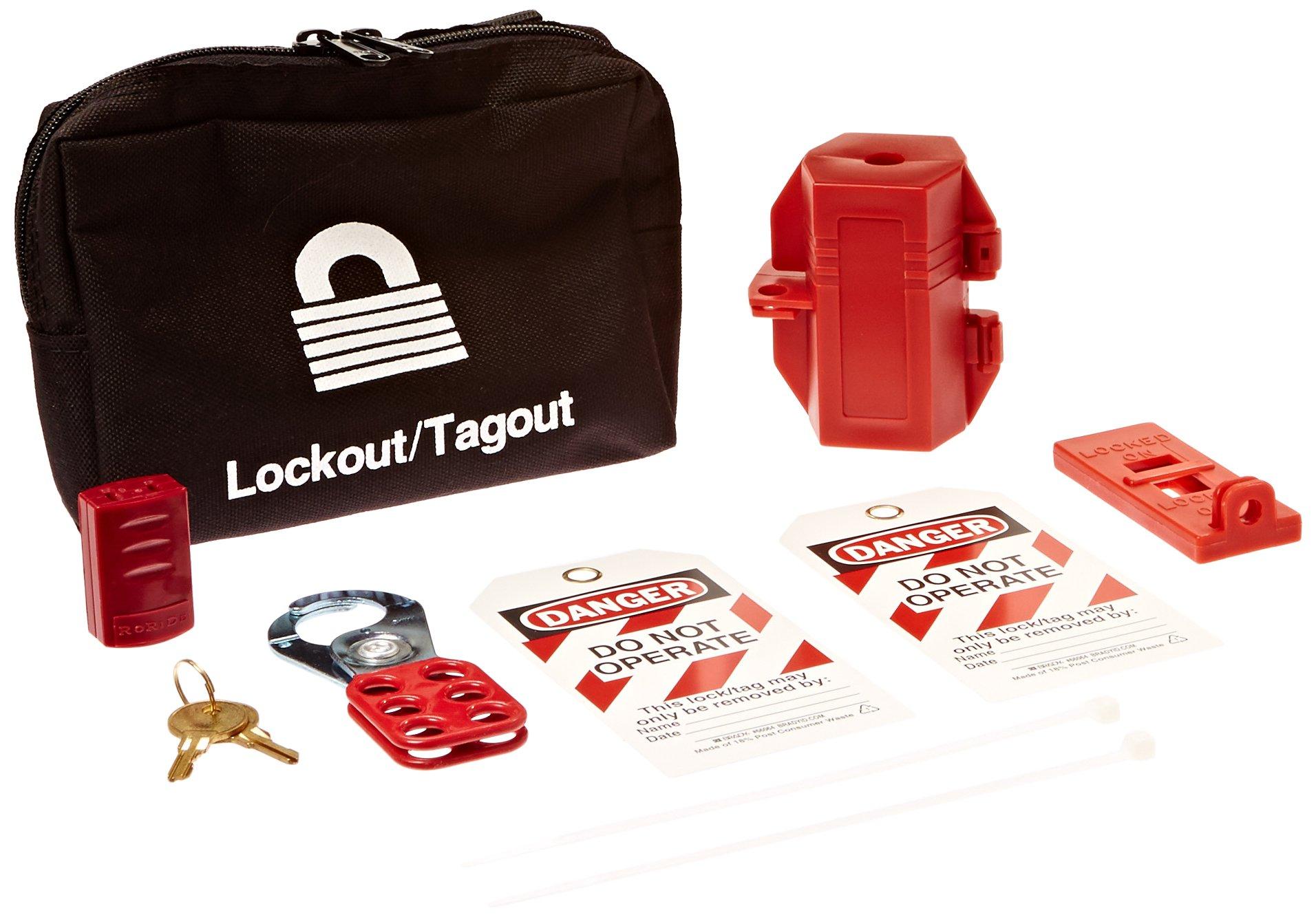 Brady 95548 Portable Lockout Kit, Fill, Electrical, Pouch by Brady (Image #1)