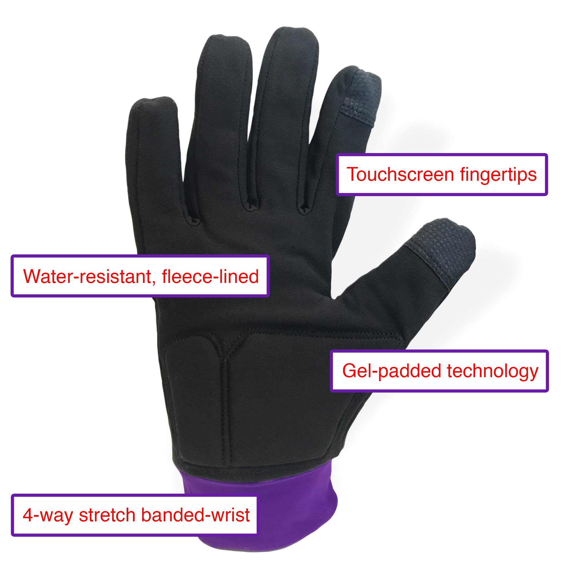 Water-Resistant Ice Skating Gloves with Protective