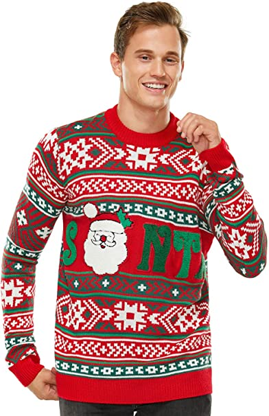 Womens Christmas Ugly Sweater Funny Knit Pullover Reindeer Santa Sweatshirt