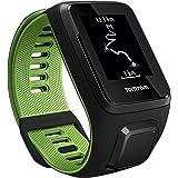 TomTom Runner 3 Cardio Orologio GPS, Cardiofrequenzimetro Integrato, Cinturino Small, Nero/Verde